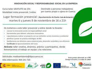 El Ayuntamiento de Huete acoge un taller de Innovación y responsabilidad social en empresas