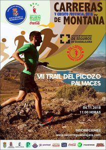 El domingo 4 de noviembre, VII Trail del Picozo de Pálmaces, última prueba del Circuito que organiza la Diputación de Guadalajara