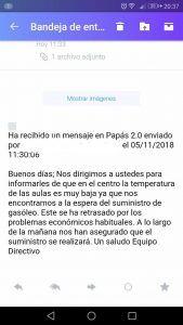 El IES Brianda de Mendoza de Guadalajara se queda sin calefacción por los problemas económicos habituales