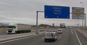 El Ministerio de Fomento hará efectiva este martes la iluminación del tramo de la A-2 comprendido entre Guadalajara y el límite con Madrid
