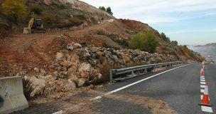El Ministerio de Fomento invierte 378.000 euros en estabilización de taludes en la N-320