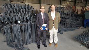 El presidente de CEOE-Cepyme Tarancón visita empresas de construcción ubicadas en la comarca
