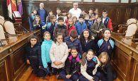 Escolares de primaria del Colegio Santa Ana visitan el Palacio Provincial de Guadalajara