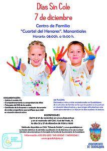 Hasta el  4 de diciembre se puede solicitar plaza para Días Sin Cole del 7 de diciembre en Guadalajara