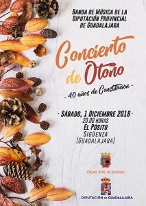 La Banda de la Diputación de Guadalajara ofrecerá un Concierto conmemorativo de los 40 años de la Constitución el sábado 1 en Sigüenza