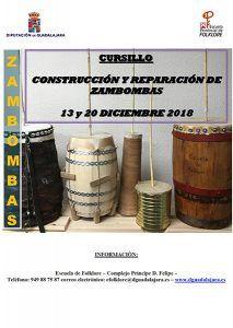 La Escuela de Folklore de la Diputación de Guadalajara convoca un cursillo de construcción de zambombas