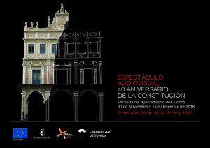 La Junta lleva a Cuenca un video mapping conmemorativo del 40 aniversario de la Constitución los días 30 de noviembre y 1 de diciembre