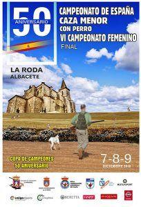 La Roda acoge el L Campeonato de España de Caza Menor con Perro y el VI Campeonato Femenino