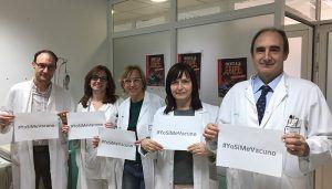 Los profesionales sanitarios animan a vacunarse contra la gripe a todos los trabajadores de la Gerencia del Área Integrada de Cuenca