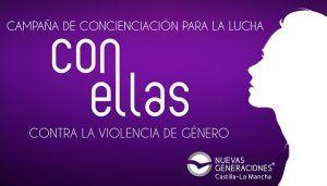 NNGG CLM lanza la campaña ¨Con Ellas¨, para concienciar contra la violencia de género