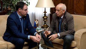 Primer encuentro institucional del subdelegado del Gobierno en Cuenca con el presidente de la Diputación Provincial