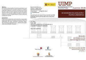 UIMP Cuenca acoge la decimonovena edición del 'Seminario sobre legislación y política urbanística y de vivienda'