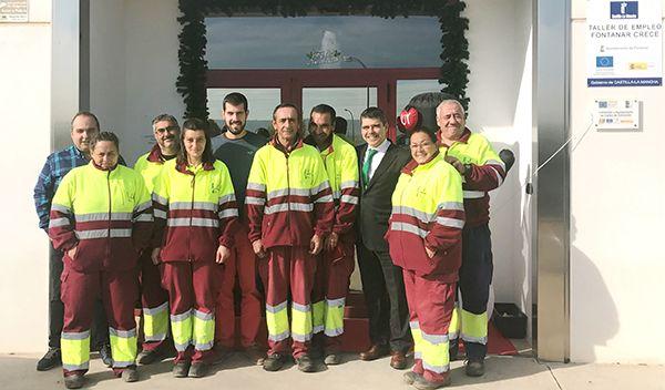 El Gobierno regional ha facilitado empleo y formación a ocho vecinos de Fontanar a través del taller de empleo al que ha destinado 76.158 euros