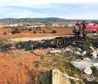 Cuesta comprueba la inexistencia de peligro para la población de Chillarón en el último incendio en su punto limpio