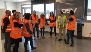 DSV recibe la visita del profesorado de Logística del IES Brianda de Mendoza