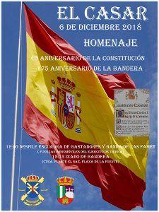 El Casar rinde homenaje a la Constitución y a la bandera en un acto que incluye desfile de la Escuadra de Gastadores