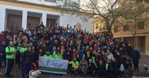 Multitudinaria y solidaria marcha contra el Cáncer en Valera de Abajo