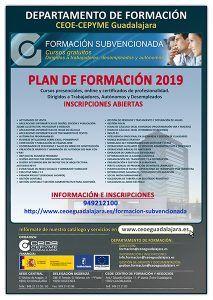 Un total de 41 nuevos cursos conforman la programación gratuita de CEOE-Cepyme Guadalajara para 2019