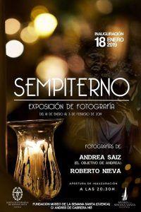 """Andrea Sáiz y Roberto Nieva inauguran """"Sempiterno"""" este viernes 18 en el Museo de Semana Santa"""