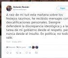 Duros ataques a Antonio Román por su defensa de la tauromaquia