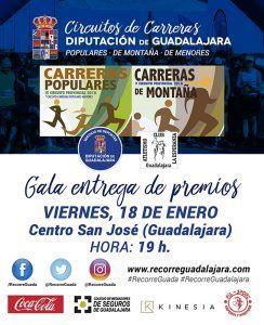 este viernes gala de entrega de premios de los circuitos de carreras populares y de montaña de 2018 organizados por diputación de guadalajara   Liberal de Castilla