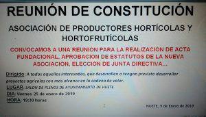 Huete constituirá la Asociación de Productores Hortícolas el próximo 25 de enero