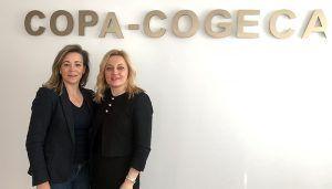 Lola Merino, presidenta de AMFAR, debate en Bruselas sobre las mujeres rurales en la PAC