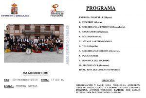Muestra de música y bailes tradicionales de la Escuela de Folklore de la Diputación el próximo sábado en Valdenoches