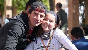 Un cabanillero busca votos y patrocinios para correr junto a su hija la Pilgrim Race 2019 con un fin solidario