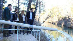 Agudo visita el Coto de Pesca Puente Romano, en Cuenca, y se reúne con Asociaciones y colectivos del sector