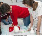 Alumnos de TCAE y de Auxiliar Administrativo del EFA El Llano se forman en técnicas de reanimación cardiopulmonar
