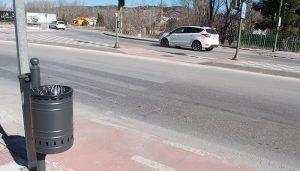 El Ayuntamiento de Cuenca continúa con la instalación de papeleras nuevas colocando 41 en la Ronda Oeste