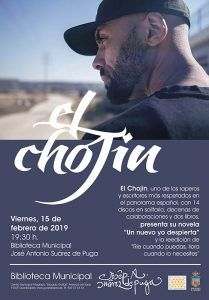 El rapero El Chojín presenta su nuevo libro en la Biblioteca José Antonio Suárez de Puga
