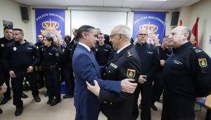 González Ramos valora el trabajo de la Policía Nacional en la recuperación del recién nacido el pasado sábado en Guadalajara