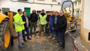 La Diputación de Guadalajara realiza obras de pavimentación y renovación de redes en Espinosa, Miralrío, Cañizar y Ciruelas