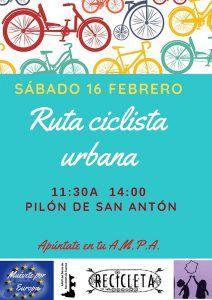 La FAMPA de Cuenca organiza un paseo en bici en colaboración con Recicleta San Antón