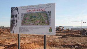 Las obras del Parque Elena de la Cruz cogen velocidad de crucero y ya están a pleno rendimiento