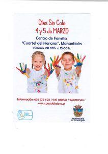 Vuelve Días sin Cole para el 4 y 5 de marzo organizado por el Ayuntamiento de Guadalajara