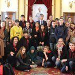El alcalde de Guadalajara recibe a estudiantes holandeses que participan en un intercambio escolar con el IES Brianda de Mendoza