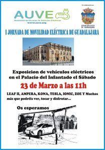 El Ayuntamiento de Guadalajara colabora con  la Asociación de Usuarios de Vehículo Eléctrico para divulgar las ventajas de la movilidad  eléctrica