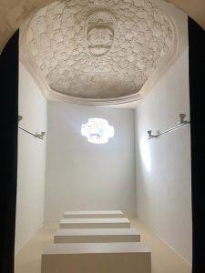 El Consorcio Ciudad de Cuenca recibe las obras de restauración de la bóveda de la capilla del Bautismo de la iglesia de Santa Cruz
