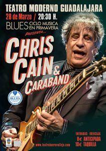 El guitarrista y cantante de blues y de jazz Chris Cain en formación Cua se presenta en España en exclusiva en el festival Musica en Primavera de Guadalajara