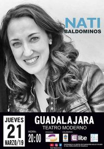 El jueves, 21 de marzo, en el Teatro Moderno, Nati Baldominos, una voz excepcional que invita a soñar
