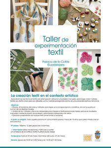 """El Patronato Municipal de Cultura de Guadalajara aumenta su oferta formativa con la impartición de un """"Taller de experimentación textil"""""""