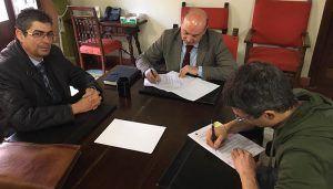 La Asociación Profesional de Empresarios seguntinos y Ayuntamiento firman un convenio de colaboración