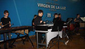 """La música regresa al Hospital de Cuenca con los alumnos de Percusión del Conservatorio Profesional """"Pedro Aranaz"""""""