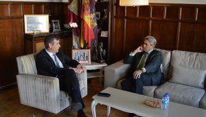 Román y el rector de la UAH avanzan en el proyecto del campus universitario en Guadalajara