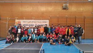 San Clemente albergó la final del Campeonato Provincial de Tenis de Mesa en Edad Escolar