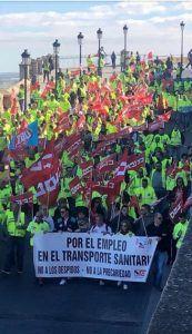 CCOO llama a la movilización de los trabajadores de ambulancias de Cuenca