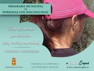 El Ayuntamiento de Cuenca pone en marcha #CuencaCapaz, una iniciativa que visibiliza a las personas con discapacidad